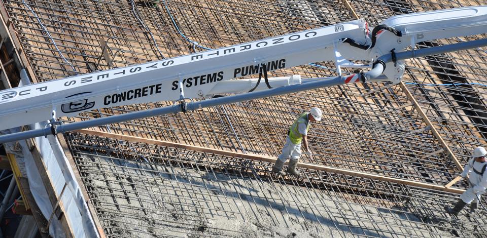 Concrete pumping services
